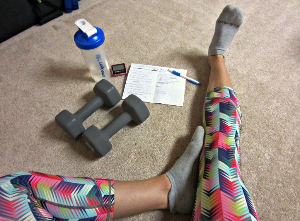 Fitness Pilates inspired at-home workout