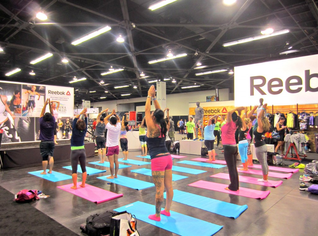 Reebok booth IDEA World Fitness Convention 2014