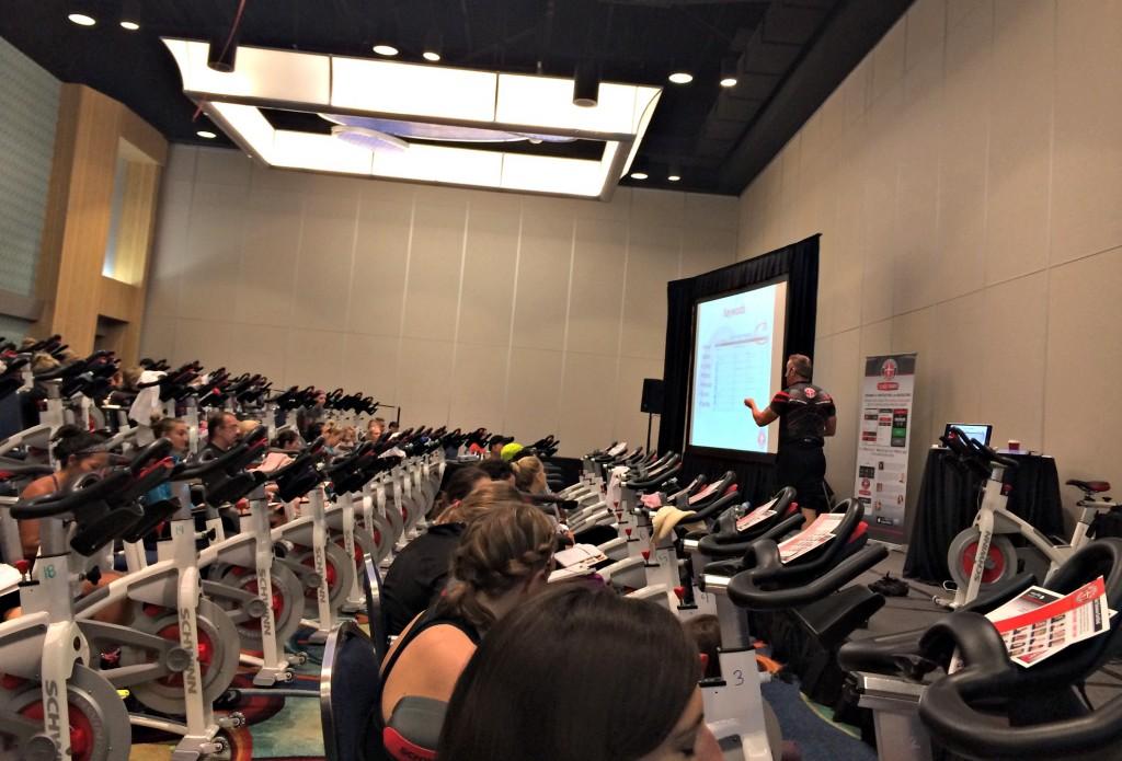 Schwinn spinning class IDEA World Fitness Convention