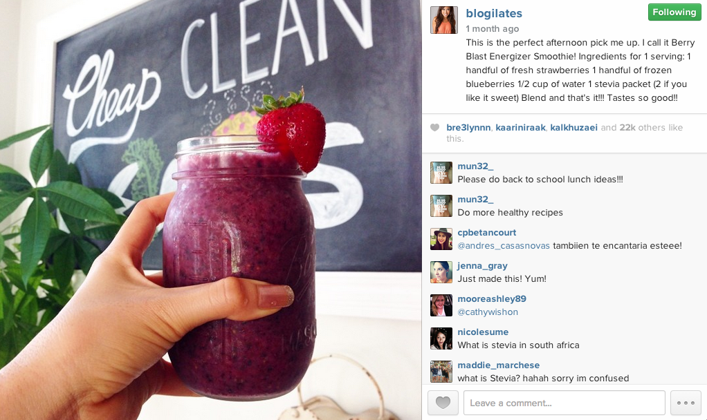 blogilates smoothie recipe
