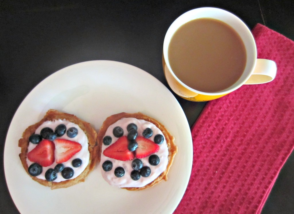 gluten free waffles and fruit