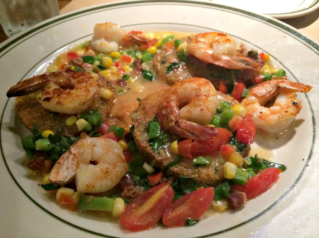 krus and meur shrimp and fried green tomatoes