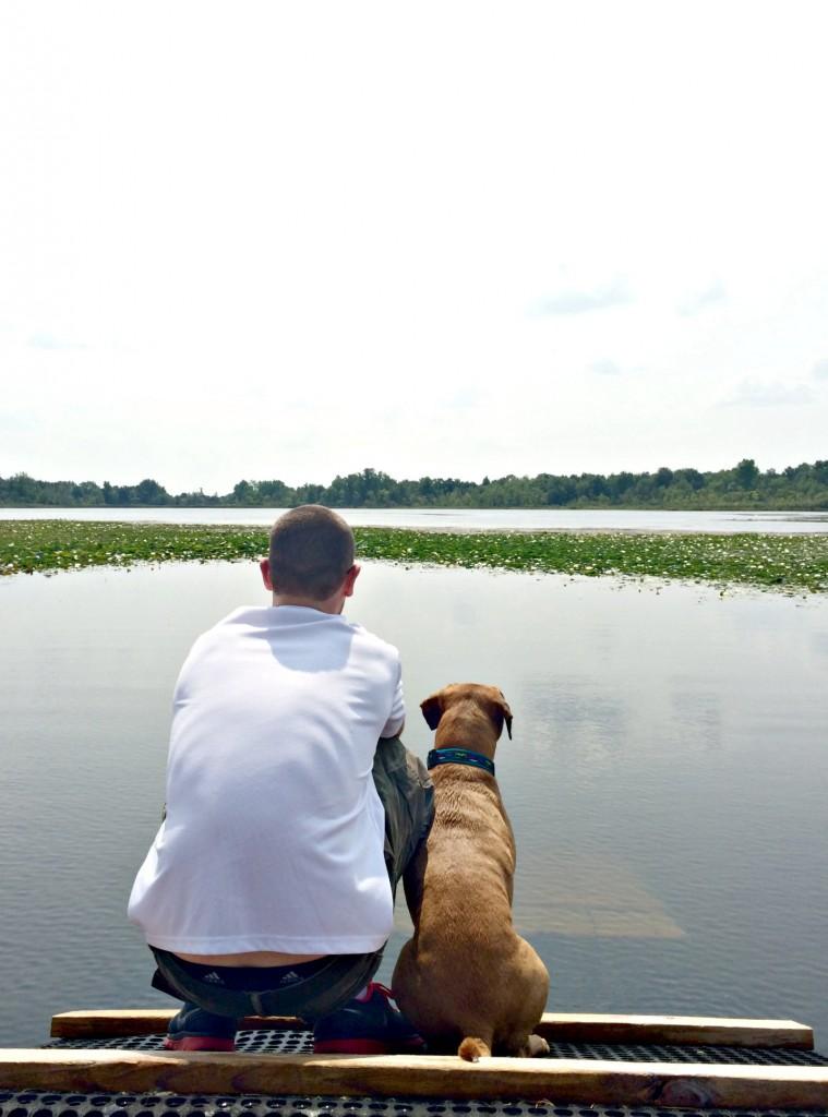 roadie and adam on dog dock.jpg