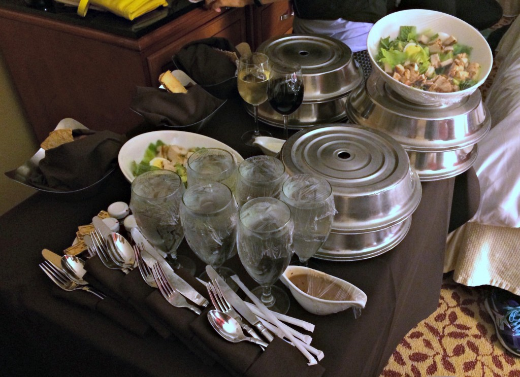 room service salads and treats