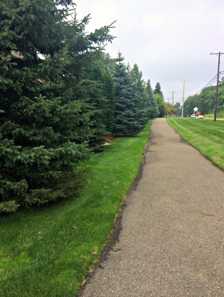 running loop around neighborhood