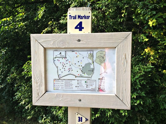 Trail marker map orion oaks