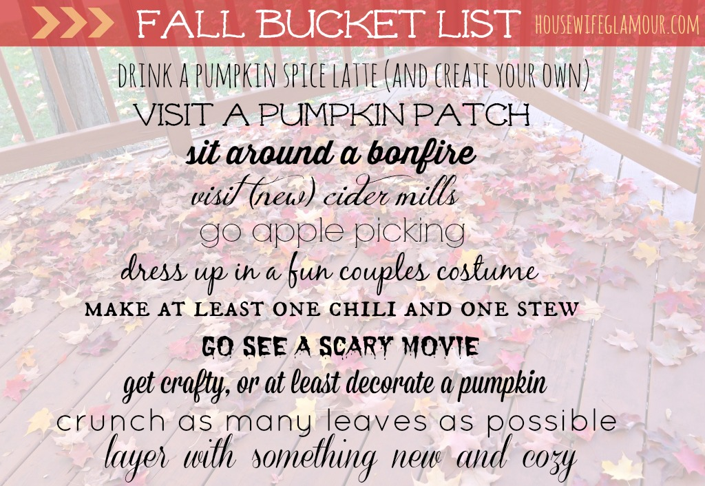 2014 Fall Bucket List