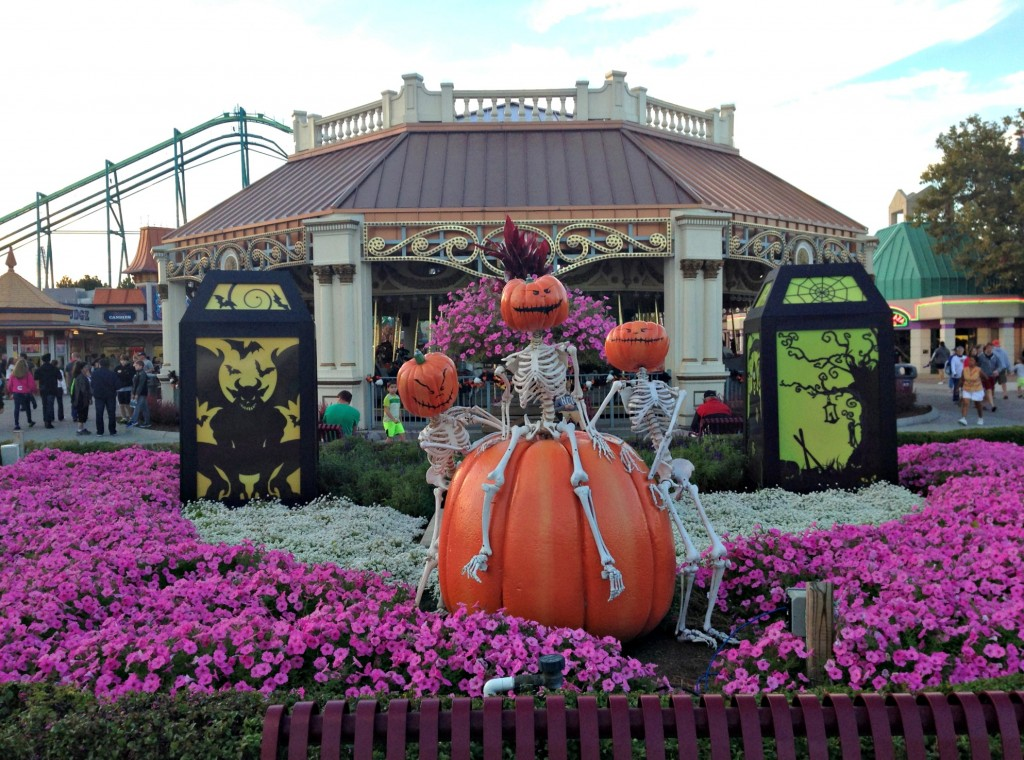 Cedar Point HalloWeekends decorations and pumpkins