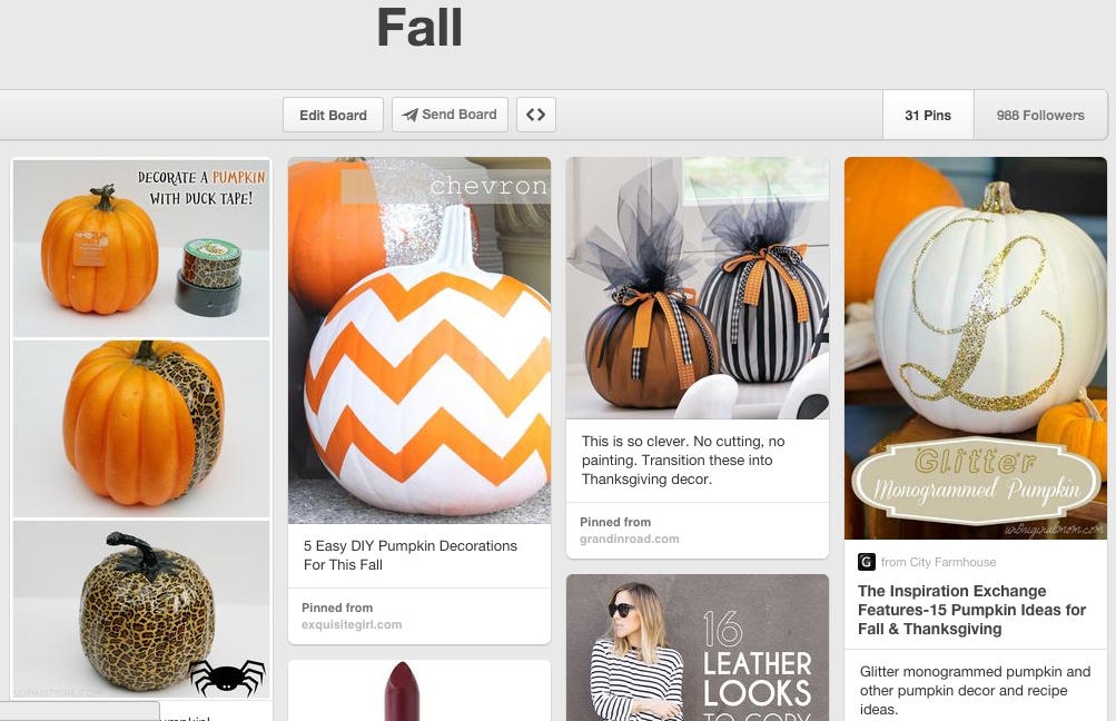 Fall pinterest board