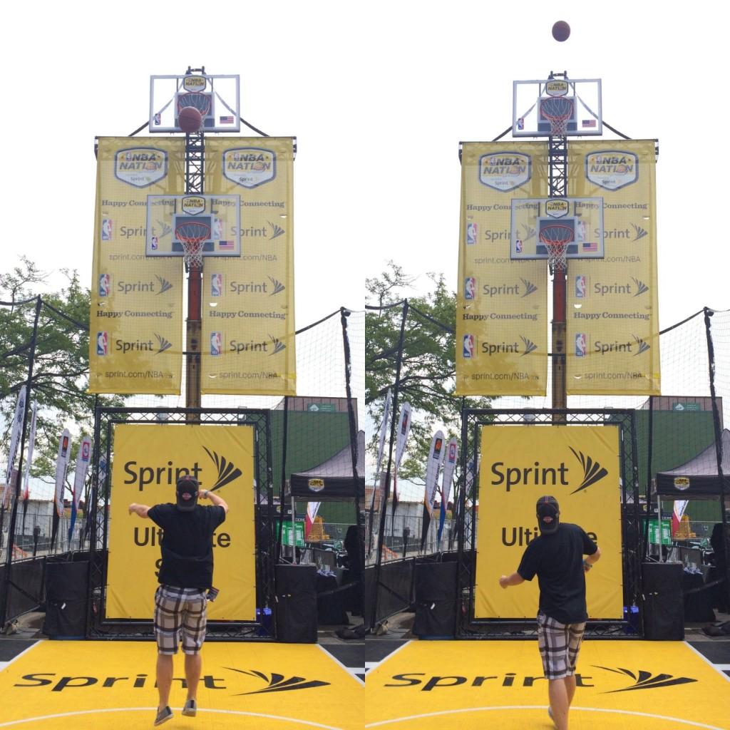 NBA Nation hoops at Arts Beats and Eats