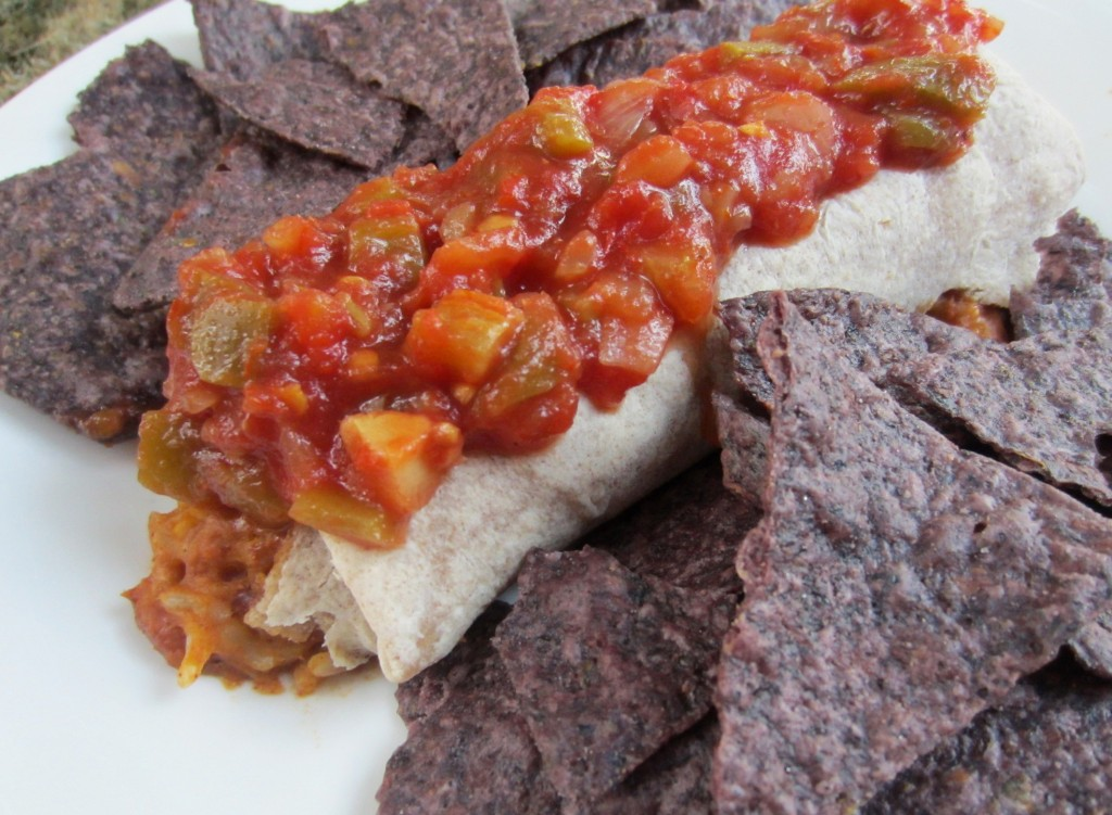 amy's burrito and corn chips