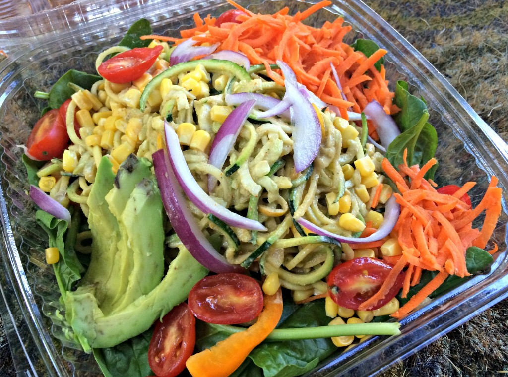 cacao tree cafe zucchini noodles salad