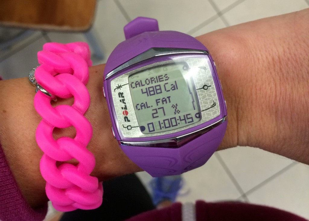 calories burned from barre class