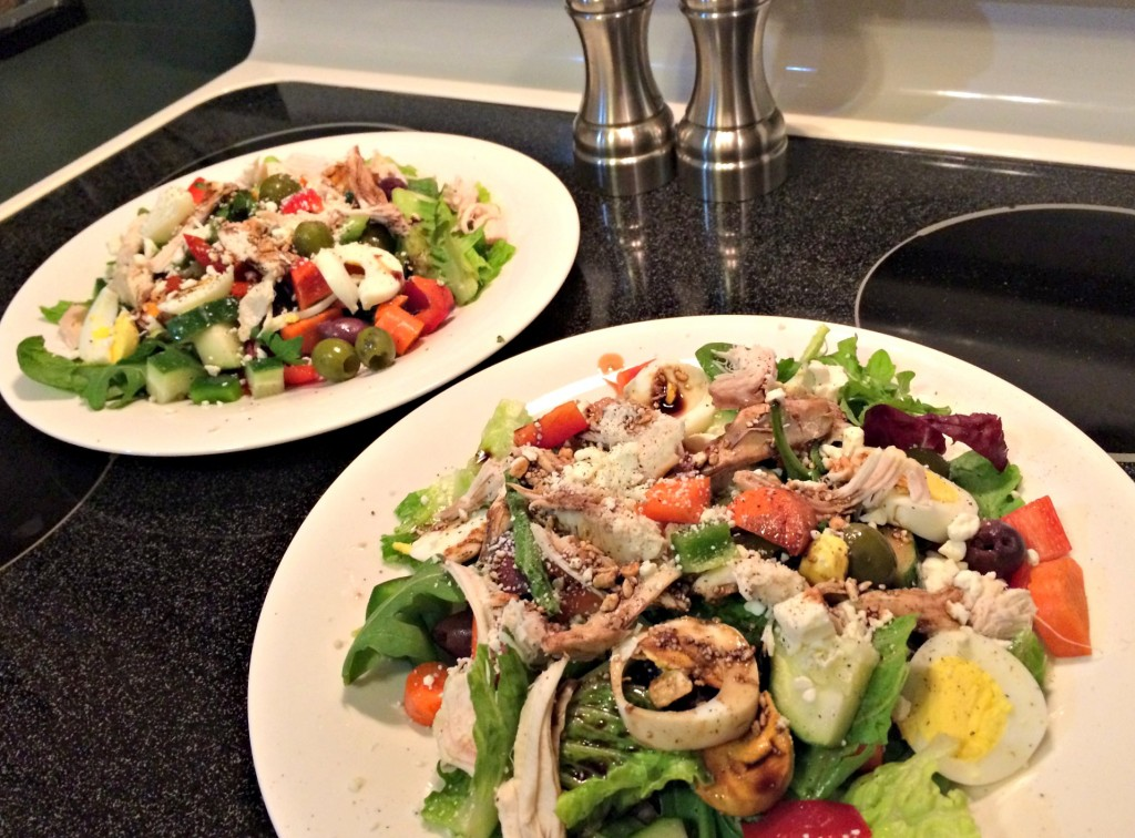 chicken and egg veggie salad