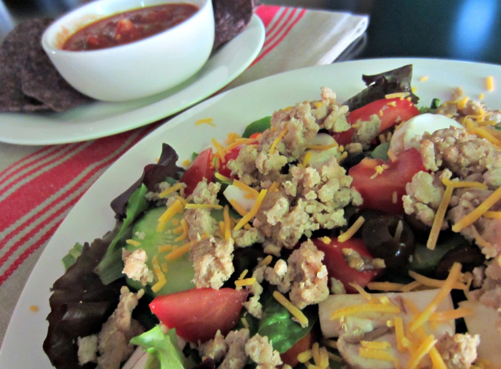 ground turkey on salad