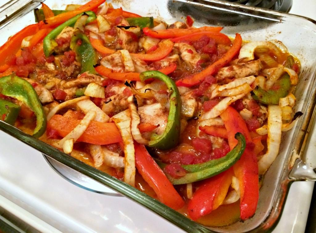 healthy chicken fajitas
