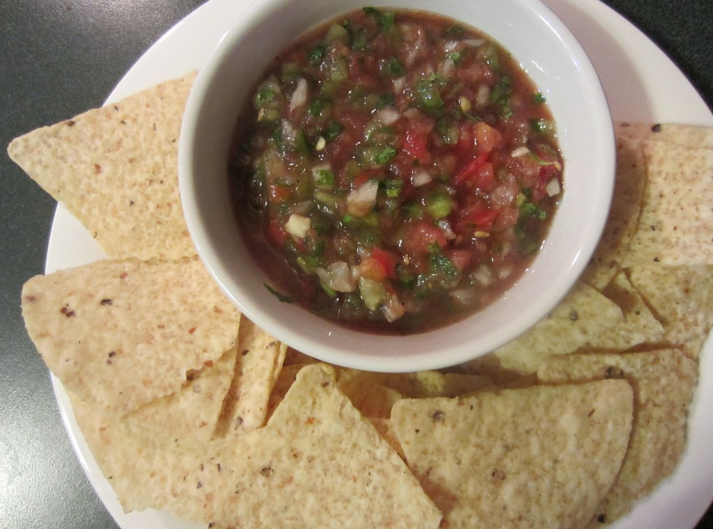 homemade salsa and corn chips