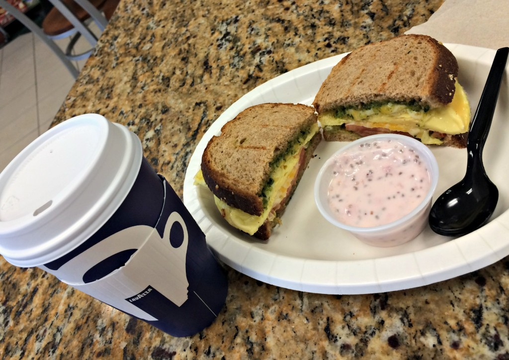 pesto egg breakfast sandwich