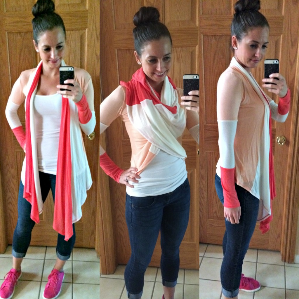 stitch fix colorblock draped cardigan