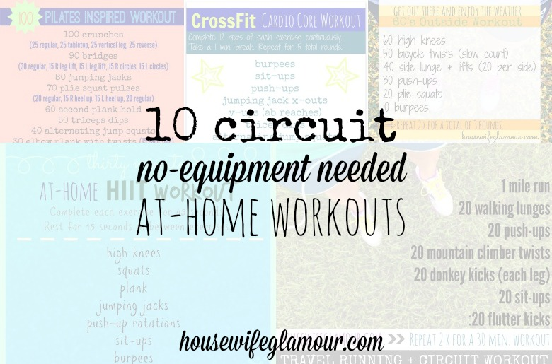 10 at-home circuit workout roundup