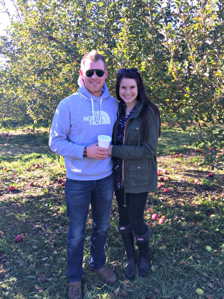 Alex and Alex at the apple orchards