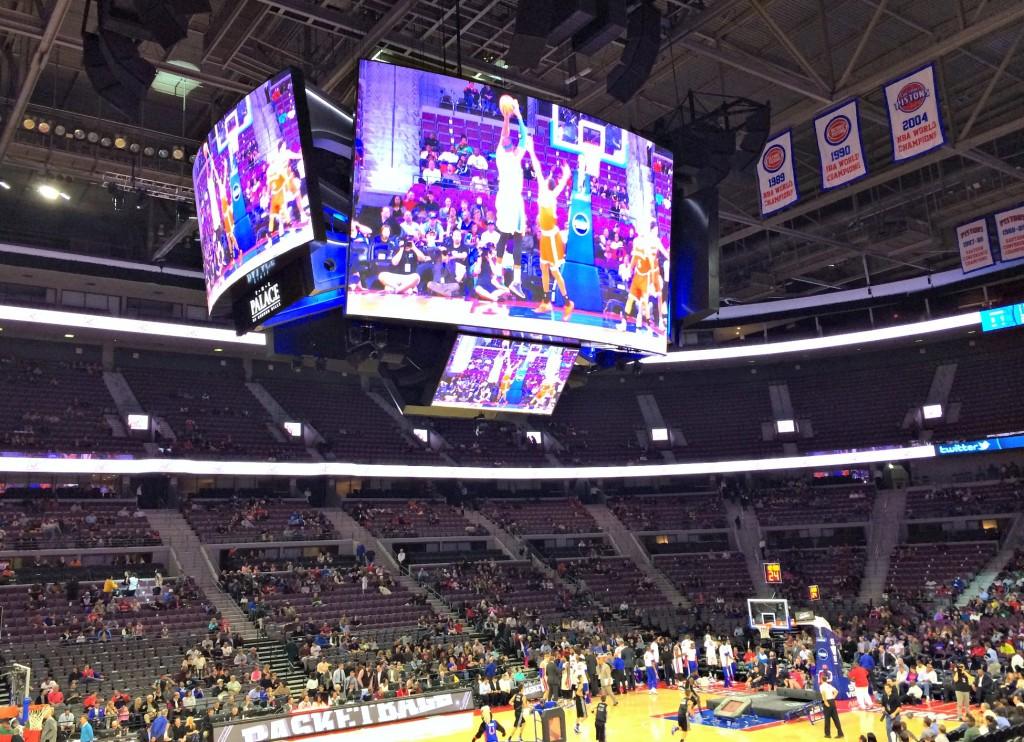 Detroit Pistons arena new jumbotron