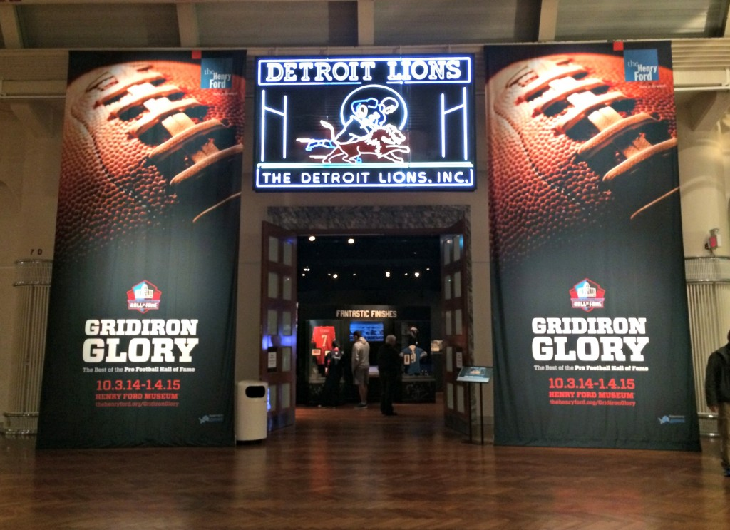 Gridiron Glory Detroit Lions exhibit at Henry Ford Museum