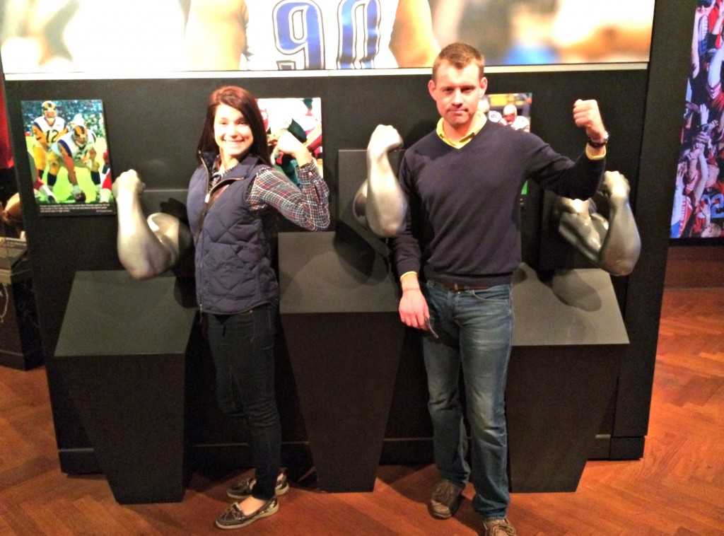 Gridiron Glory Detroit Lions exhibit at Henry Ford Museum biceps display