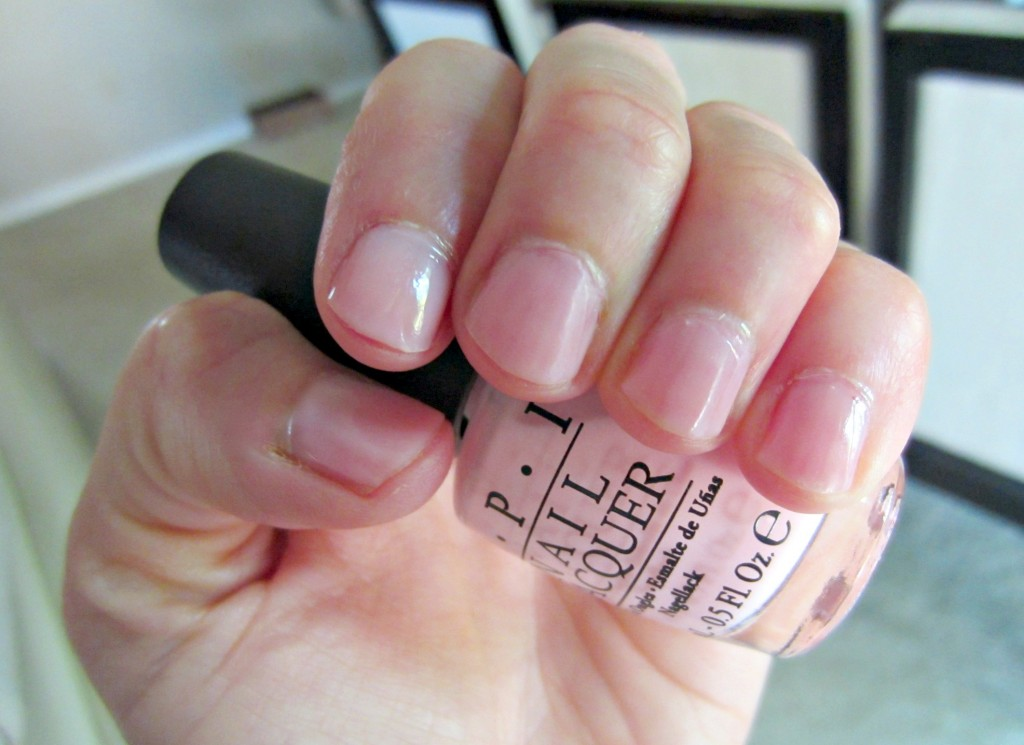 OPI it's a girl baby pink polish