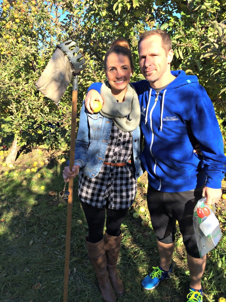 Scott and I at the apple orchard still funny