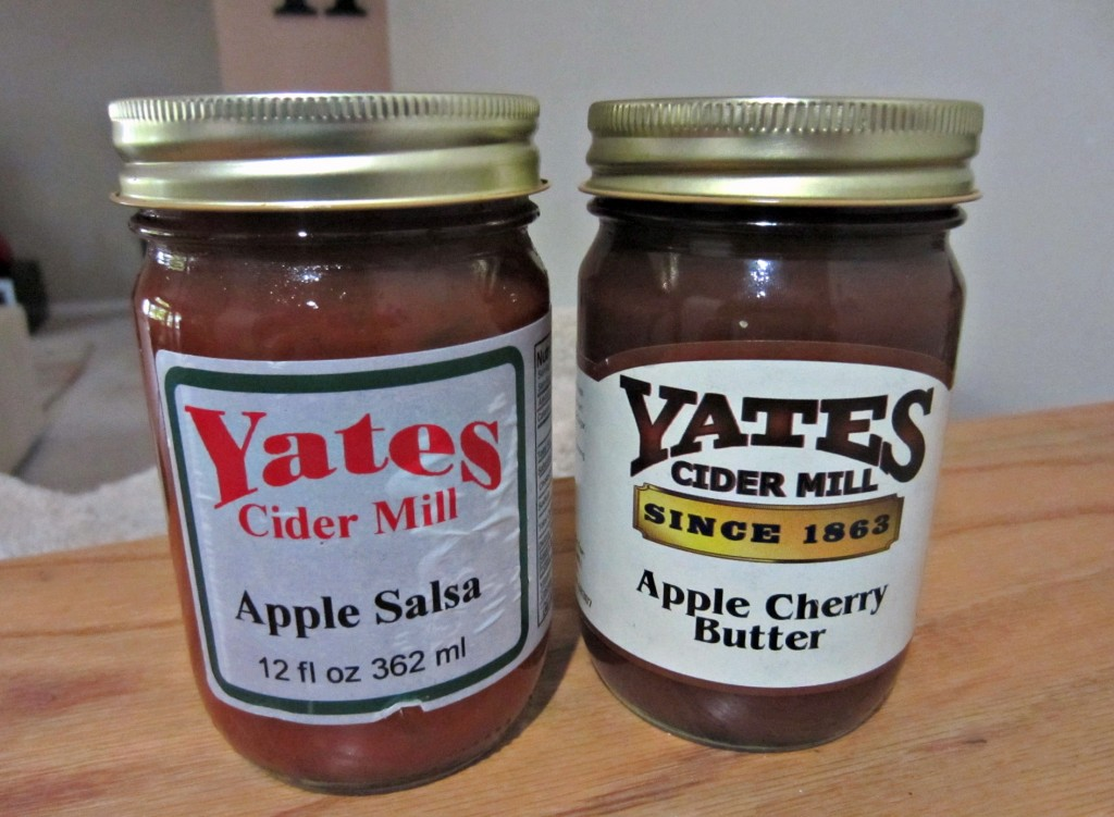 Yates cider mill apple cherry butter and apple salsa