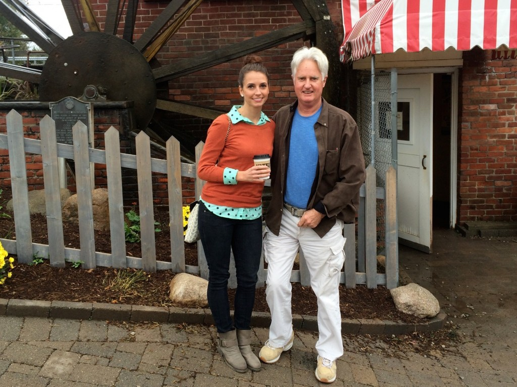 cider mill with dad