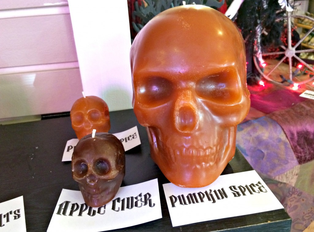 fall scented skull candles