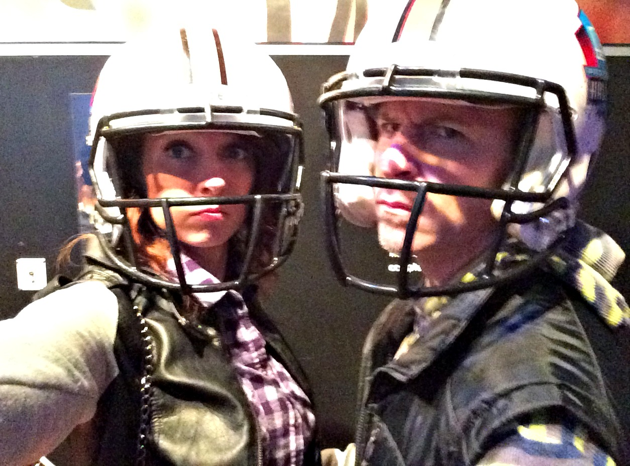 football helmets Gridiron Glory Detroit Lions exhibit at Henry Ford Museum