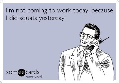 funny someecard about working out