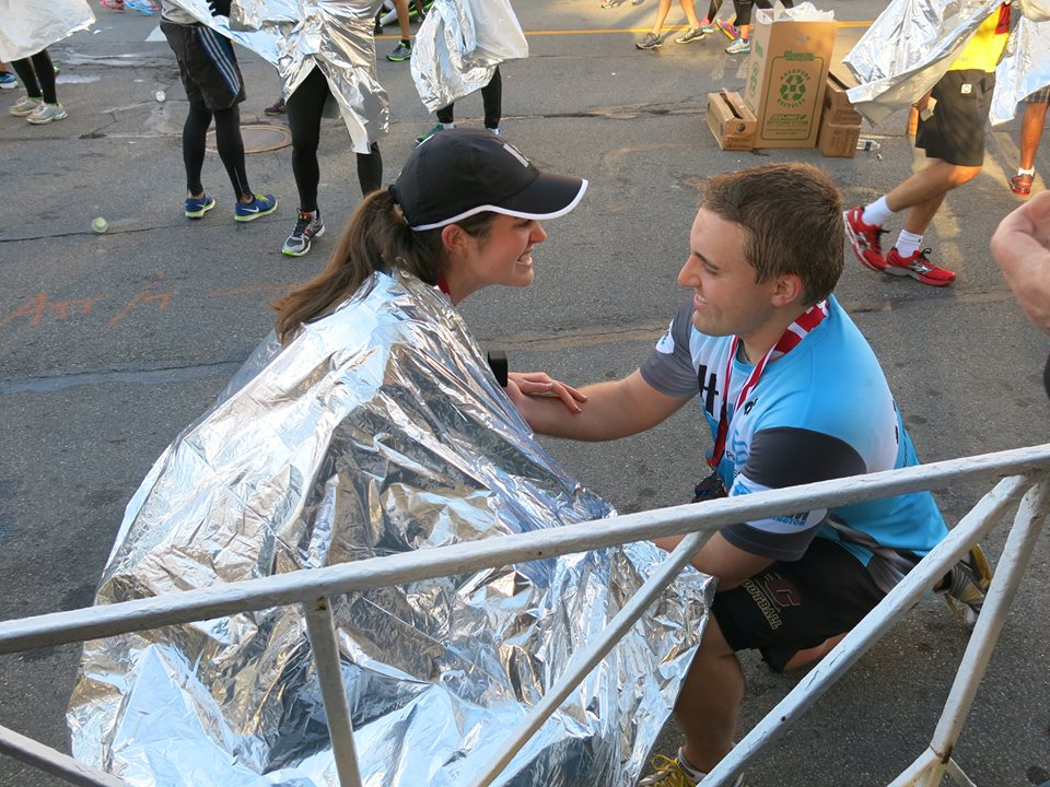 kelly and brian at finish line