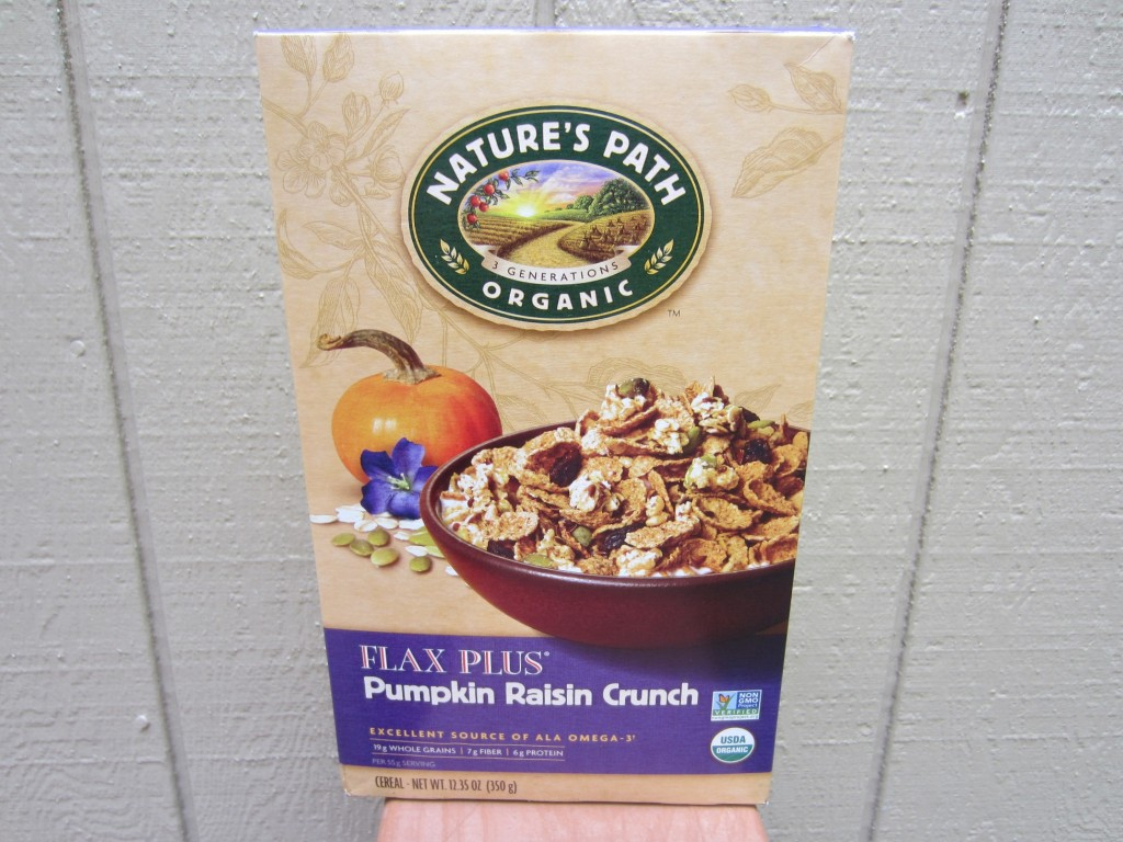 nature's path organic pumpkin raisin crunch cereal