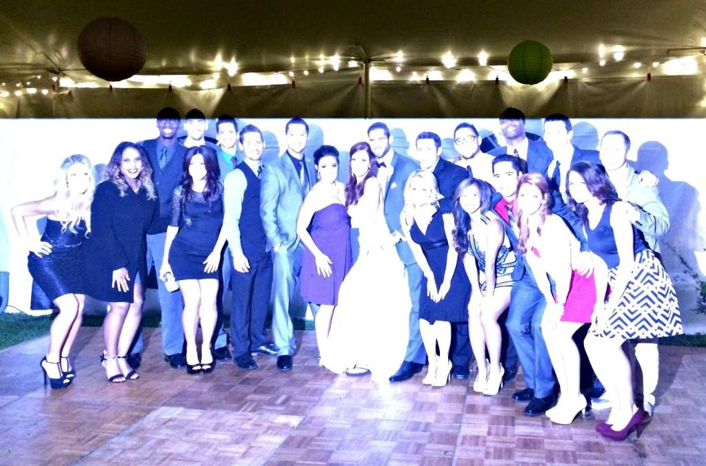 pistons family at wedding