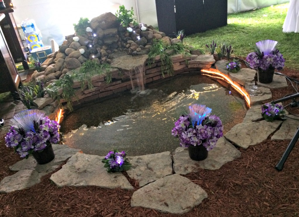 pond inside the tent