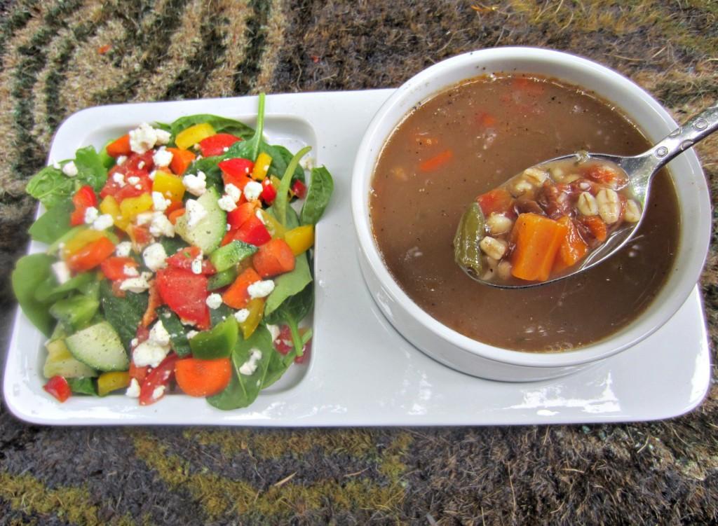 progresso light soup and side salad