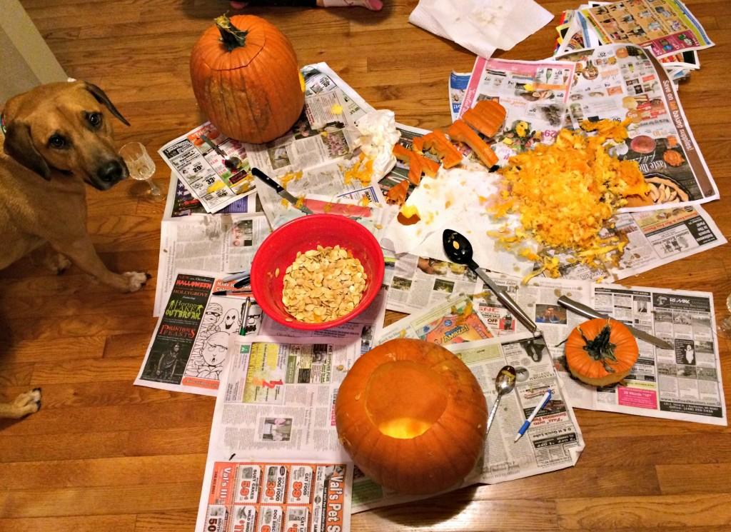 pumpkin carving with roadie