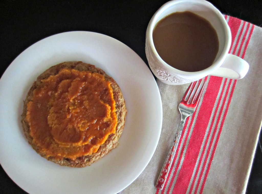 pumpkin protein pancake for breakfast