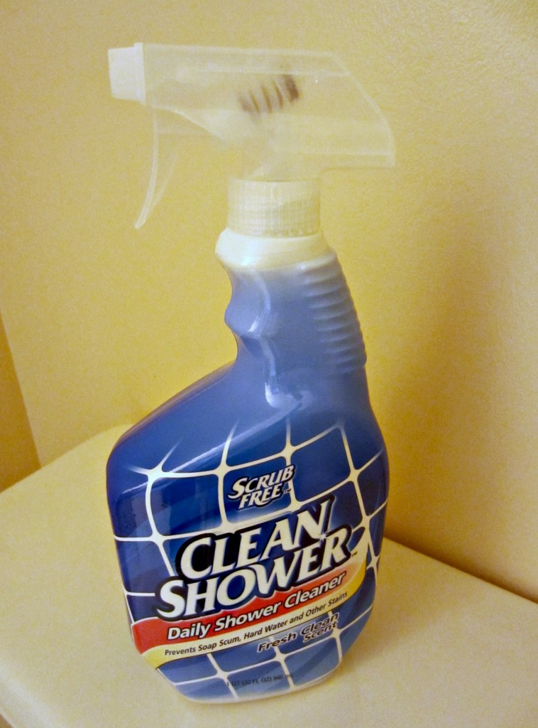 scrub free clean shower spray