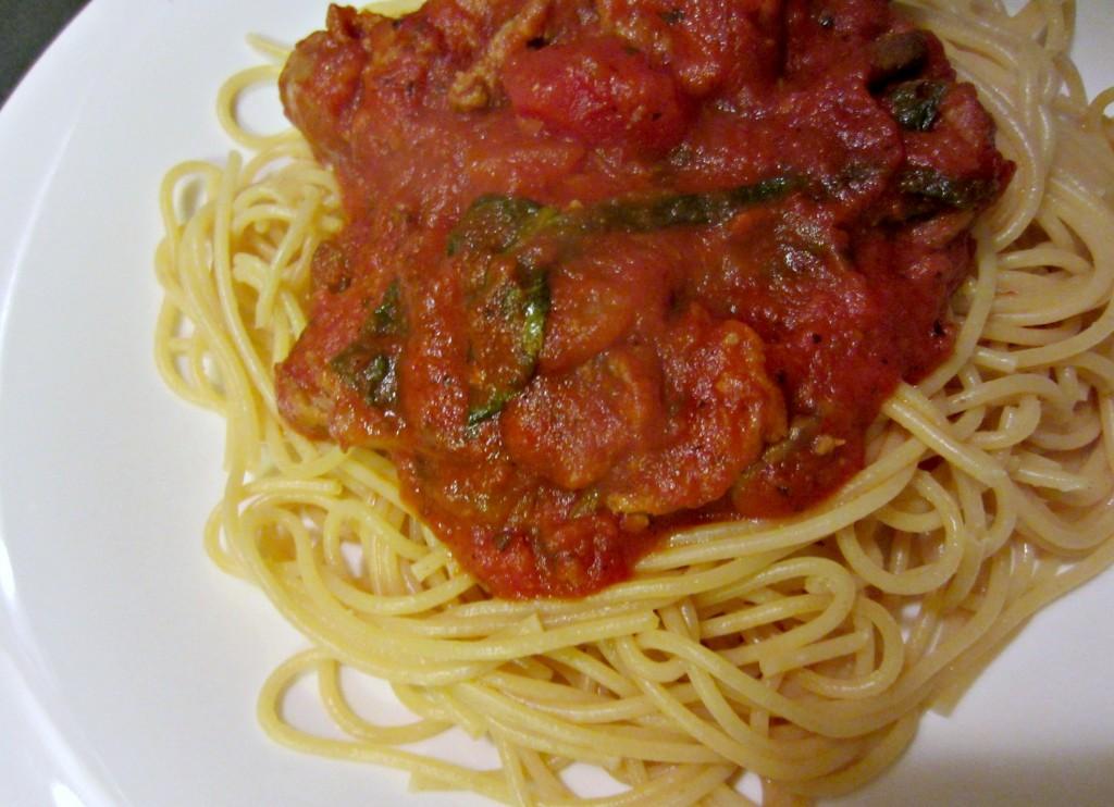 spicy chicken italian sausage pasta