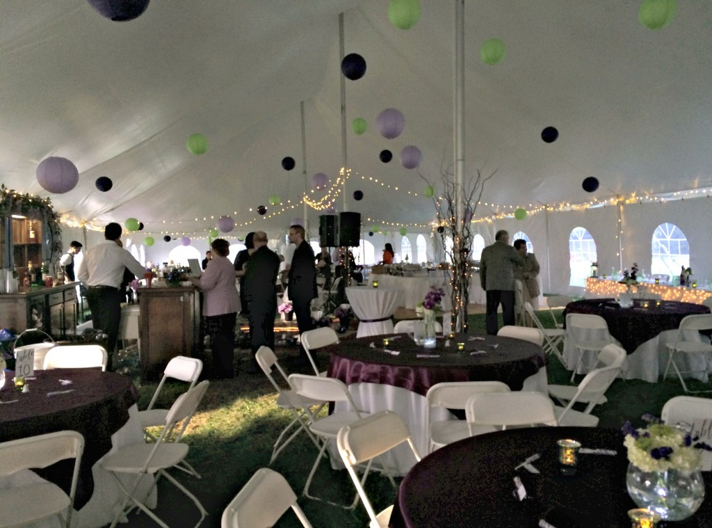 wedding reception tent