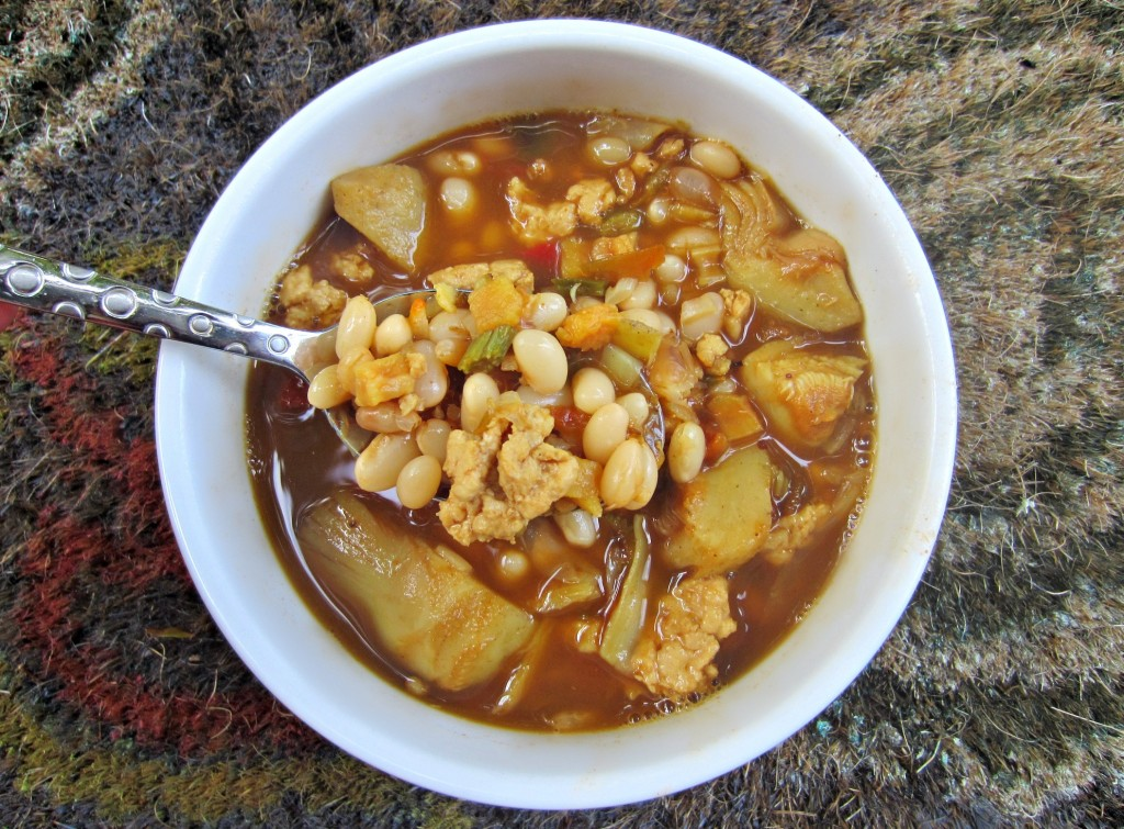 white bean pre-packaged chili soup