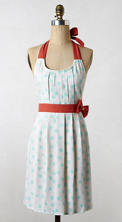 Anthropologie apron - polka pleats
