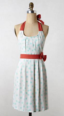 Anthropologie apron - polka pleats