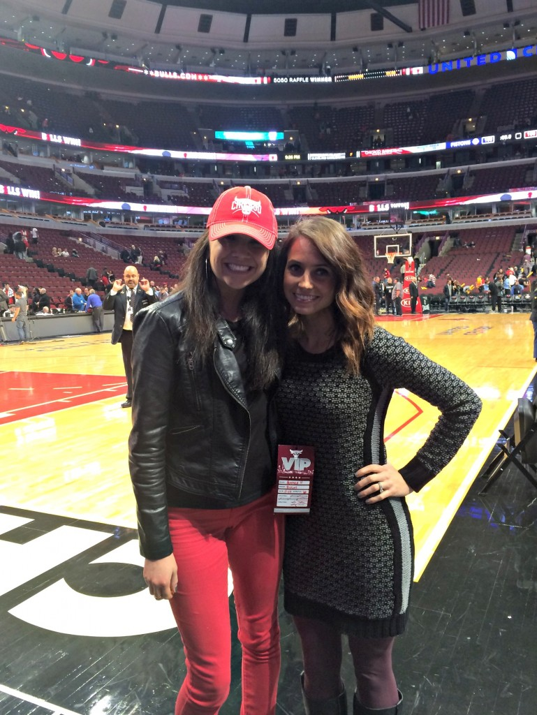 Bulls game with Katlyn