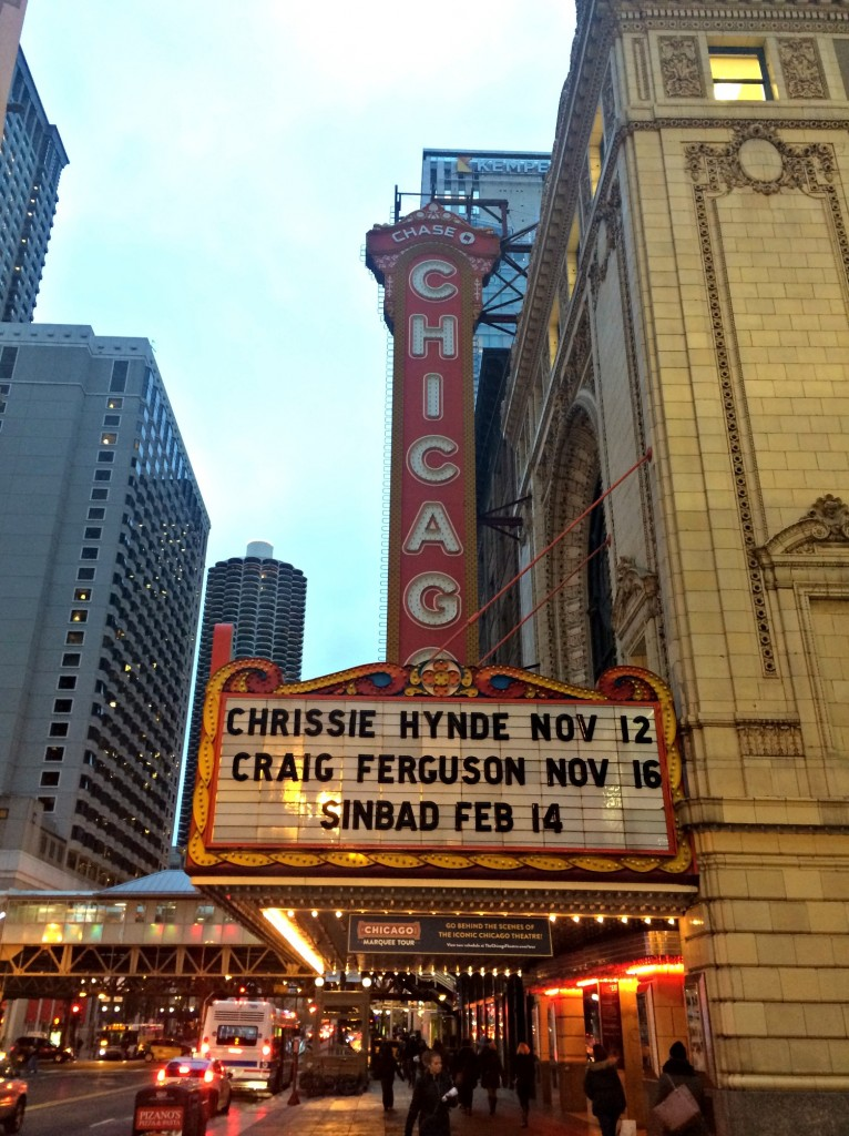 Chicago theatre sign